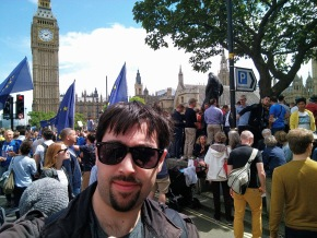 brexit march for europe westminster flags european
